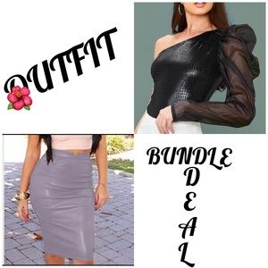 Dresses & Skirts - 🌸OUTFIT SKIRT & BLOUSE BUNDLE DEAL